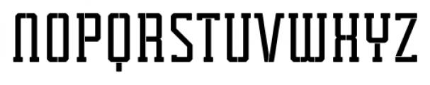 Tecnica Slab Stencil 1 Bold Alternate Font UPPERCASE