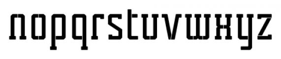 Tecnica Slab Stencil 1 Bold Alternate Font LOWERCASE
