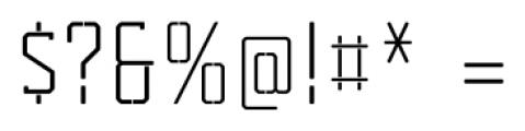 Tecnica Slab Stencil 1 Regular Alternate Font OTHER CHARS