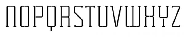 Tecnica Slab Stencil 1 Regular Alternate Font UPPERCASE
