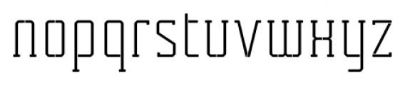Tecnica Slab Stencil 1 Regular Alternate Font LOWERCASE