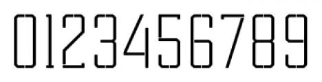 Tecnica Slab Stencil 1 Regular Font OTHER CHARS