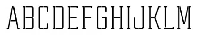 Tecnica Slab Stencil 1 Regular Font UPPERCASE