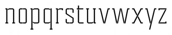 Tecnica Slab Stencil 1 Regular Font LOWERCASE