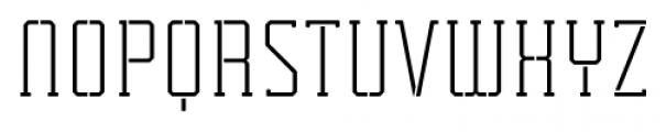 Tecnica Slab Stencil 2 Regular Alternate Font UPPERCASE