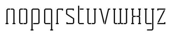 Tecnica Slab Stencil 2 Regular Alternate Font LOWERCASE