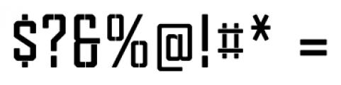 Tecnica Stencil 1 Bold Font OTHER CHARS