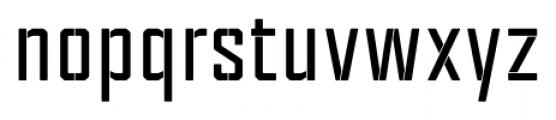 Tecnica Stencil 1 Bold Font LOWERCASE