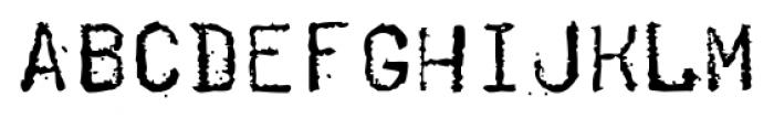 Telegraph Straight Font LOWERCASE