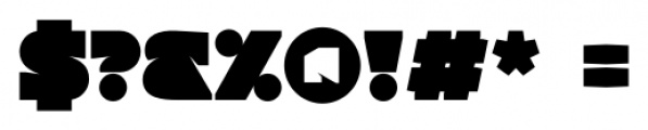 Tenshu ExtraBlack Font OTHER CHARS