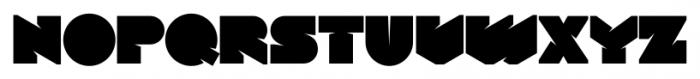 Tenshu ExtraBlack Font LOWERCASE