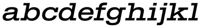 TEMPER Wide 46 Font LOWERCASE