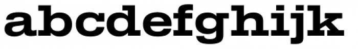TEMPER Wide 65 Font LOWERCASE