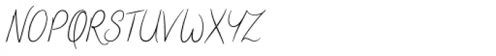 Teacher's Pet Thin Font UPPERCASE