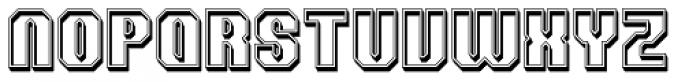 Team Raised Outline Font UPPERCASE