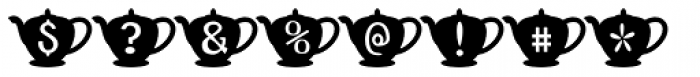 Teapot Font OTHER CHARS