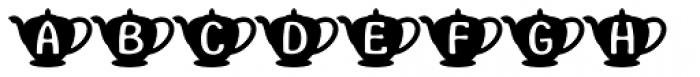 Teapot Font UPPERCASE