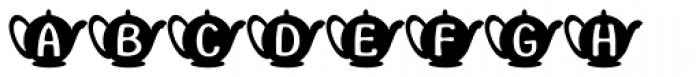 Teapot Font LOWERCASE