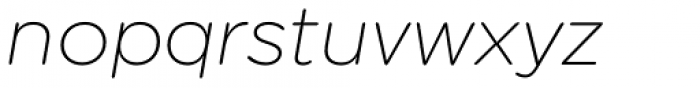 Technica Extra Light Italic Font LOWERCASE