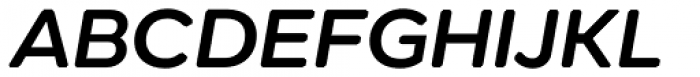 Technica Semi Bold Italic Font UPPERCASE