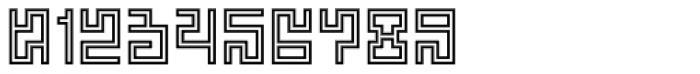 Technical Scripture Mix Contour Font OTHER CHARS