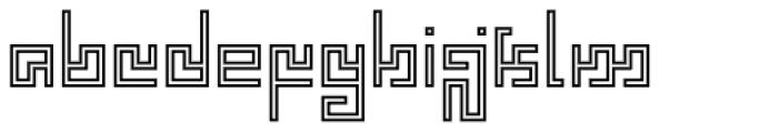 Technical Scripture Mix Contour Font LOWERCASE