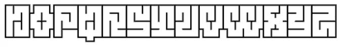 Technical Scripture Outline Font UPPERCASE