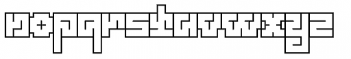 Technical Scripture Outline Font LOWERCASE