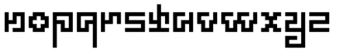 Technical Scripture Font LOWERCASE