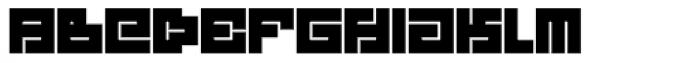 Technical Signature Bold Font LOWERCASE