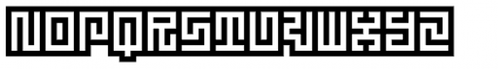Technical Signature Inverse Font UPPERCASE