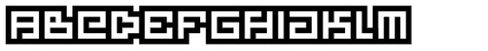 Technical Signature Inverse Font LOWERCASE