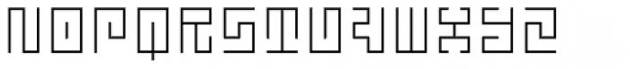 Technical Signature Light Font UPPERCASE
