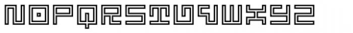 Technical Signature Mix Contour Font LOWERCASE