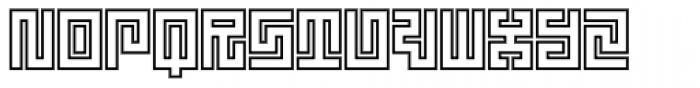 Technical Signature Mix Inline Font UPPERCASE