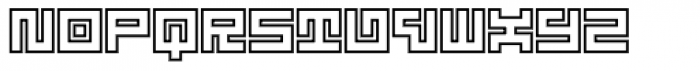 Technical Signature Mix Inline Font LOWERCASE