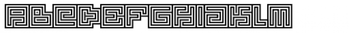 Technical Signature Mix Seal Font LOWERCASE