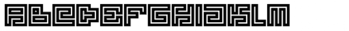Technical Signature Mix Stamp VS Font LOWERCASE