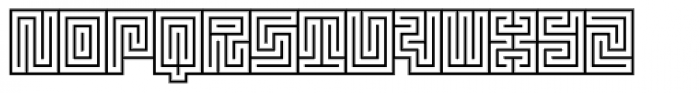 Technical Signature Mix Stamp Font UPPERCASE