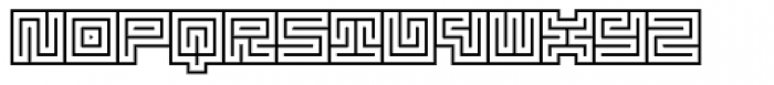 Technical Signature Mix Stamp Font LOWERCASE