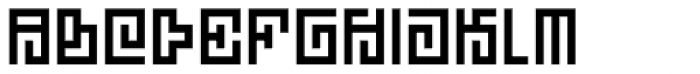 Technical Signature Font UPPERCASE