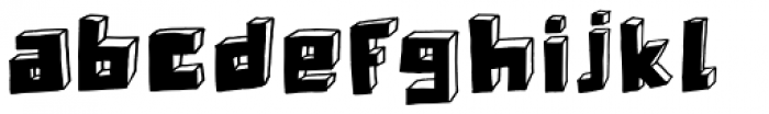 Technojunk Font LOWERCASE