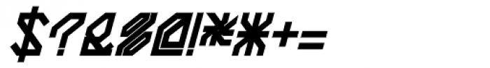 Techstep Black Oblique Font OTHER CHARS