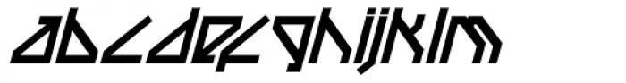 Techstep Black Oblique Font LOWERCASE