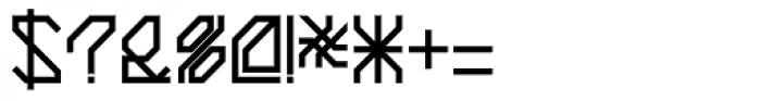 Techstep Medium Font OTHER CHARS