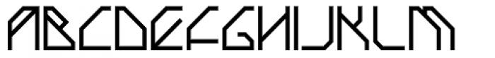 Techstep Medium Font UPPERCASE