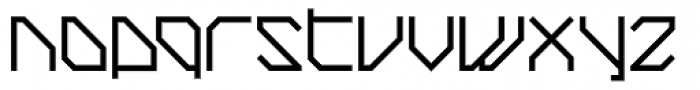 Techstep Medium Font LOWERCASE