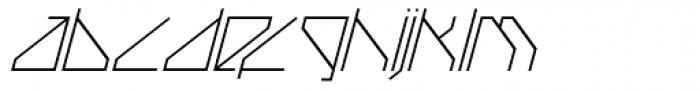 Techstep Thin Oblique Font LOWERCASE