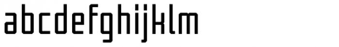 Tecnica Bold Alternate Font LOWERCASE