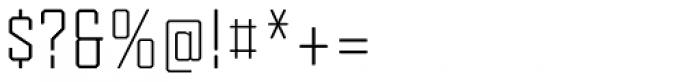 Tecnica Regular Font OTHER CHARS